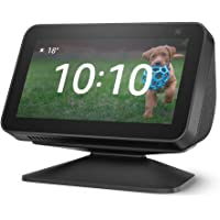 Echo Show 5 (2nd Gen, 2021 release), Charcoal + Adjustable Stand, Charcoal