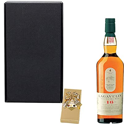 Lagavulin 16 Year Old Single Malt Scotch Whisky Gift Set With Handcrafted Happy Birthday Gifts2Drink Tag