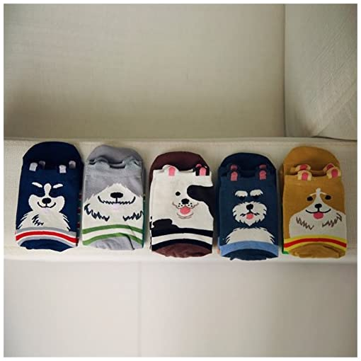 78f1fbbcfb750 LHZY Womens Girls Socks 5 Pack,Funny Cute Pet Dogs Painting Cartoon Sweet  Design,Comfortable Cotton ...