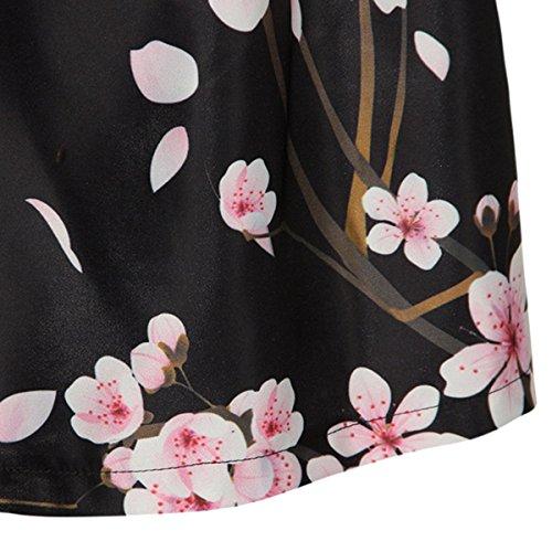 Sasairy Frauen Fashion Print Galaxy A-linien Röcke Retro Elegant Faltenrock Sexy Knielang Hohe Cocktail Party Minikleider Vintage Damen Skirts EU 38-40 Farbe-008 -