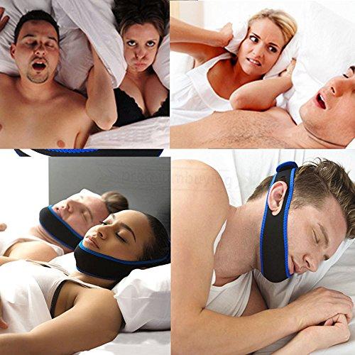 Anti Snoring Strap Belt Sleep Aid Apnea Chin Support Jaw Snore