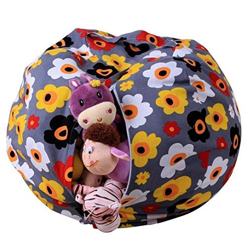 Stofftier Kuscheltiere Aufbewahrung Aufbewahrungstasche Sitzsack Kinder Soft Pouch Stoff Stuhl (One Size, E)