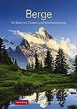 Berge - Kalender 2019: Wochenplaner, 53 Blatt mit Zitaten und Wochenchronik