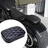 Notsitz Sitz Sozius Pad Sitzpad Sitzkissen Passenger Seat Motorradsitz mit 6 oder 8 Saugnapf für Harley XL883 1200 X 48 72