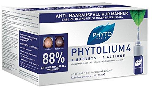 PHYTO PHYTOLIUM 4 Anti-Haarausfall Kur Ampullen für genetischen Haarausfall,42ml