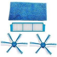TeKeHom - Filtro HEPA: 1 cepillo lateral, 2 almohadillas húmedas para la ropa,