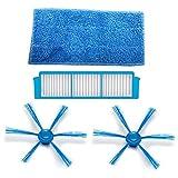 TeKeHom HEPA Filter * 1+ Seite Bürste * 2+ Nass zu wischen Reinigungstuch Pads * 1Für Philips SmartPro Easy Roboter Staubsauger fc8796fc8794fc8792