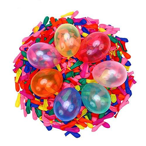AIUIN 111 Pcs Wasserballons Schnell Wasserballons füllen Selbstsiegelnde Wasserbombe Sommer Splash Fun Wasserkampf Spiel für Kinder & Erwachsene (Angebrachtes Werkzeug)