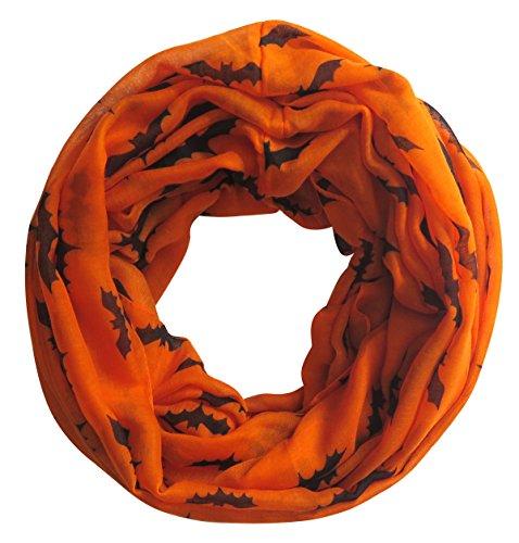 Lina & Lily Fledermaus Print Loop Halloween Schal (Halloween Schal)