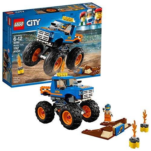 Unbekannt Lego City Great Vehicles Monster Truck 60180 Baukit (192-teilig) City Great Vehicles Monster Truck (192-teilig) (Lego Truck Kleinkind)