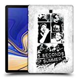 Head Case Designs Offizielle 5 Seconds of Summer Band Weiss Gruppenbild Montage Ruckseite Hülle für Samsung Galaxy Tab S4 10.5 (2018)