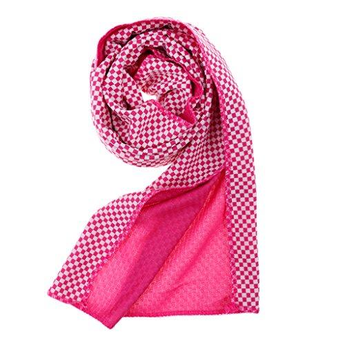 Sharplace Sporthandtuch Bambus-Karbonfaser Handtuch Schnelltrocknend Extrem saugfähig Reisehandtuch Badetuch Strandhandtuch, 90 x 30cm - Rose Rot -