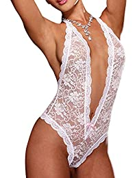 Sexyville Sexy Women Plus Size Lace Babydoll Underwear Lingerie Robe de nuit