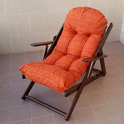 Poltrona sedia sdraio relax in legno pieghevole harmony lusso cuscino super imbottito h 100 cm soggiorno cucina salone divano