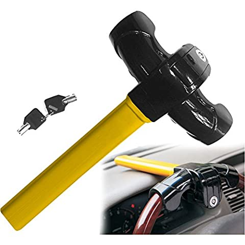 JJOnlineStore - FLASH SALES - Anti-Theft Car Vehicle Security Rotary Steering Wheel Lock 2 Keys
