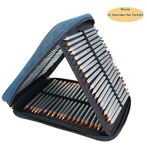 CREOOGO Large Capacity 120 Loops Travel Portable Pencils Case Dark Blue by CreooGo