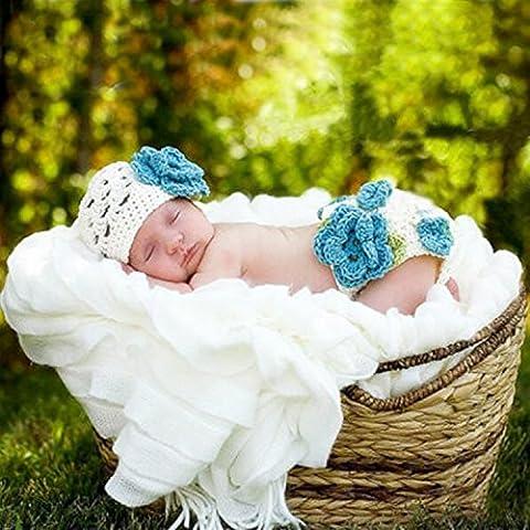 PEPEL Neugeborenes Baby Fotografie Requisiten Handarbeit häkeln gestrickte Mädchen Baby GAP Outfit Foto Requisiten