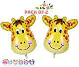 #4: AMFIN® (Pack Of 2) First Birthday Decoration / 1st Birthday Decoration Item / Party Decoration / Foil Balloons for birthday decoration / Foil Balloons for Decoration / 1st Birthday Balloons / Baby Shower Party Decoration / Birthday Party / Baby Shower Decoration Material - Yellow
