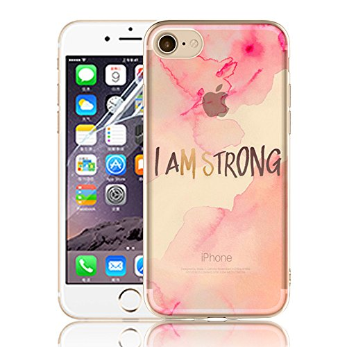 Case pour iPhone 7 (4,7 pouces) - Sunroyal Shell Ultra Slim Transparent Clair Soft Souple TPU Silicone Gel Cover 3D Vague Encre Créatif Coloré beau conception Housse Ultra Light Hull avec Ink Waves Mo Modèle-27