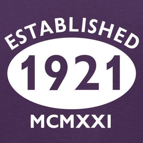 Gegründet 1921 Römische Ziffern - 96 Geburtstag - Herren T-Shirt - 13 Farben Lila