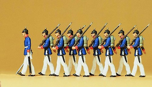 Preiser 12186 Preußische Infanterie in Paradeuniform um 1910