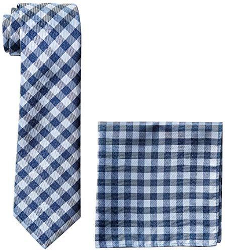 Nautica Herren Stripe Tie & Pocket Square Set Krawatte, Navy, Einheitsgröße - Nautica Gestreifte Krawatte