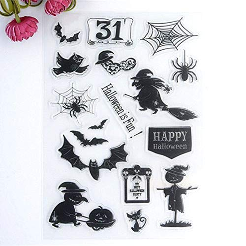 Welcome to voller Freude HOME 1 Halloween-Stil Gummi CLEAR STAMP für Karte machen Dekoration und Scrapbooking