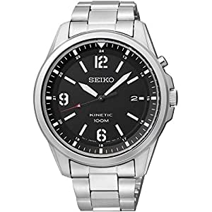 Seiko Herren-Armbanduhr Kinetic Analog Quarz Edelstahl SKA611P1