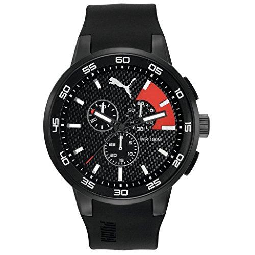 Hombre-reloj PUMA time 10416 - Colour NEGRO Cronógrafo de cuarzo rojo plástico PU104161001