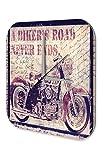 Wanduhr Nostalgie Uhr Motorrad used Look Bild Acryl Deko Vintage Retro