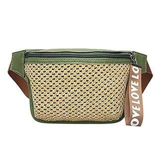 Fannyfuny bolsos para Mujer Bolso de Mano Elegante Cintura Fanny Pack Riñoneras Bolsa de Paja para Todos los Días de Fiesta Riñoneras Shoppers y Bolsos de Playa para Escuela Trabaja Viaja