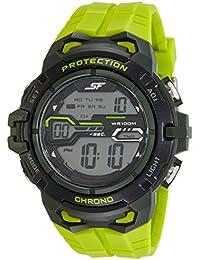 Sonata Fibre (SF) Digital Grey Dial Men's Watch-77076PP03