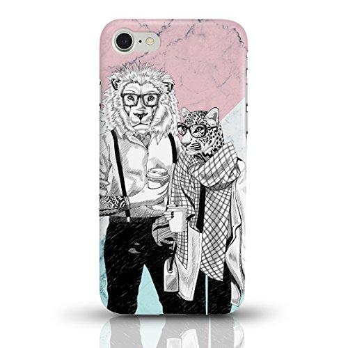 """JUNIWORDS Handyhüllen Slim Case für das iPhone 7 - """"Bunter Elefant schwarz"""" - Handyhülle, Handycase, Handyschale, Schutzhülle für Ihr Smartphone Hipster-Tierpärchen-Marmor"""