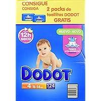 Dodot - Pack de Pañales Dodot, 124 unidades + 2 Packs de Toallitas, 8