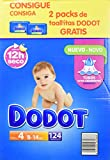 Dodot - Pack de Pañales Dodot, 124 unidades + 2 Packs de Toallitas, 8-14 kg