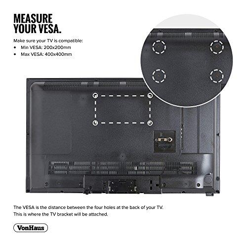 """51nZ98UW 6L - VonHaus Soporte de Pared para TV de 26""""-55"""" Inclinable, Peso Máx. 40kg Super Fuerte, VESA Máx. 400x400, para Televisores Pantalla Plana/LED/LCD/Plasma/Curvada/3D"""