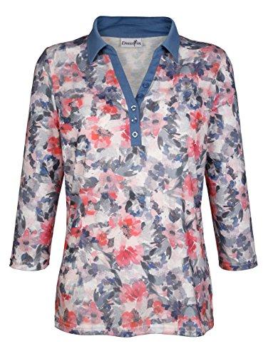 Damen Poloshirt mit Blumendruck by KLiNGEL floral bedruckt