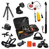 TecTecTec Kit XXL d'accessoires pour caméra sport XPRO1, XPRO2, XPRO2+, XPRO3, XPRO4