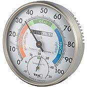 Wetterladen Präzisions Hygrometer Klimatest, Grau, 100 x 26 mm