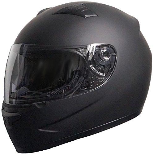 Rallox Helmets Casco da Moto Scooter integrale nero opaco Rallox 051 (XS S M L XL) Taglia: S