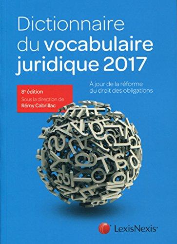 Dictionnaire du vocabulaire juridique par Rémy Cabrillac