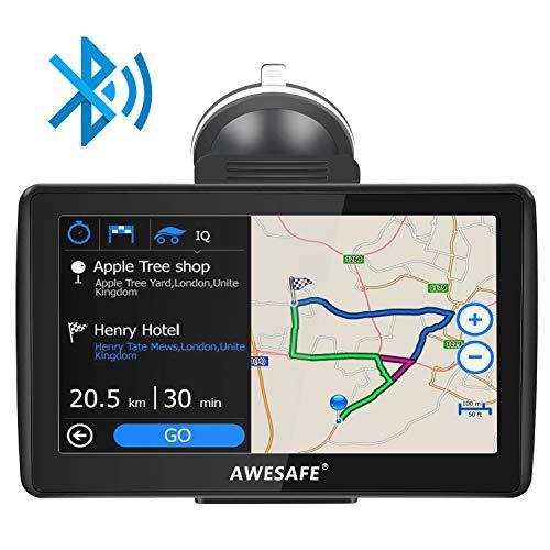 AWESAFE Navegador GPS para Coches de 7 Pulgadas con Bluetooth con 22...