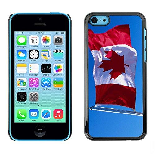 Graphic4You Vintage Uralt Flagge Von Kanada Kanadier Design Harte Hülle Case Tasche Schutzhülle für Apple iPhone 5C Design #8