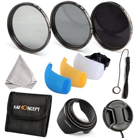 K&F Concept 52mm 3 piezas ND2 ND4 ND8 Filtro Kit de Accessorios de Lente Densidad Neutra Filtro para Nikon D5300 D5200 D5100 D3300 D3200 D3100 DSLR