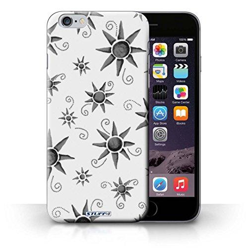 KOBALT® Hülle Case für iPhone 6+/Plus 5.5 | Grün/Weiß Entwurf | Sonnenschein Muster Kollektion Schwarz/Weiß