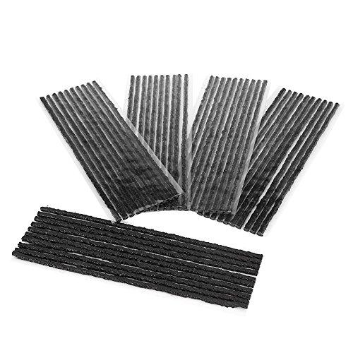 Keenso 50pcs auto riparazione pneumatici corde, pneumatici in gomma strisce di riparazione pneumatici tubeless attrezzo di riparazione per auto camion moto
