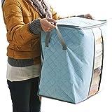 Amlaiworld Caja de almacenaje Organizador portátil bolsa de almacenamiento plegable para debajo de la cama Plegable de Ropa Cobija Edredón Armario Suéter Organizador Caja Bolsas Fundas de ropa (SB)