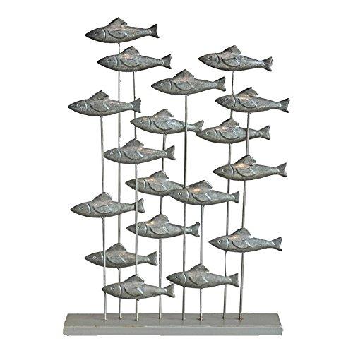 Chehoma Gartenbank Fische silber 54x 37x 10cm