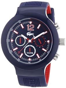 Reloj Lacoste 2010703 de cuarzo para hombre, correa de silicona color azul (cronómetro) de Lacoste