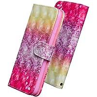 HUDDU Glitzer Rosa Handyhülle iPhone X Hülle Flip Wallet Case Ledertasche im Bookstyle mit Kartenfach Magnetverschluss... preisvergleich bei billige-tabletten.eu